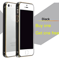 Buy one get one free Newest design Circle Arc Metal Aluminum Bumper mobile Phone Bags Case