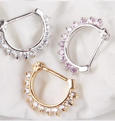 Unisex Punk Non Piercing Fake Nose Ring Stud Hoop 18k Gold Fake Piercing Septum Nose Rings 16g Indian Nose Ring Fake Piercing(China (Mainland))
