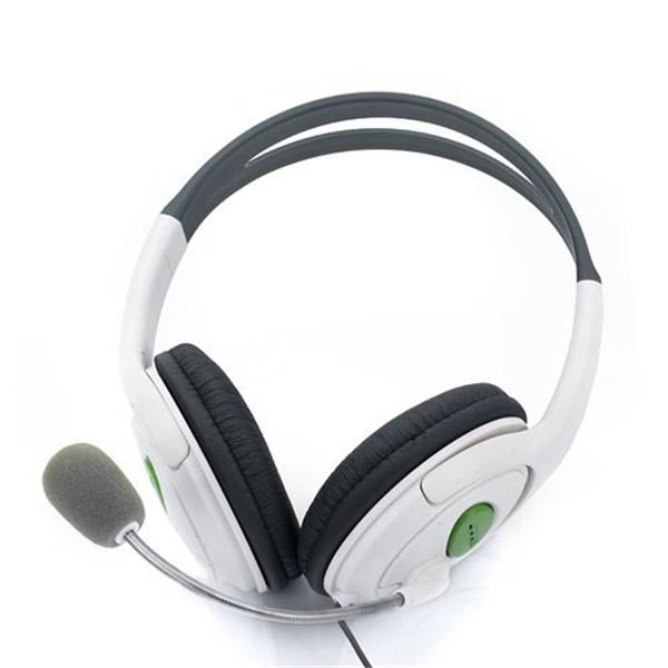 New Super High Stereo Live HQ Audio Headband Headset Headphone Microphone For Xbox 360 Elite Slim Wireless Controller Joystick(China (Mainland))