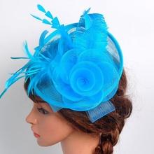 New Women Veil Feather Hair Clip Hat Fascinator Wedding Cocktail Party Mesh Decor QL10