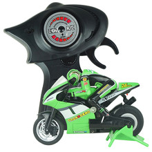 Boys 8012 3CH Mini High Speed Remote Control Motorcycle w/ Gyro Green(China (Mainland))