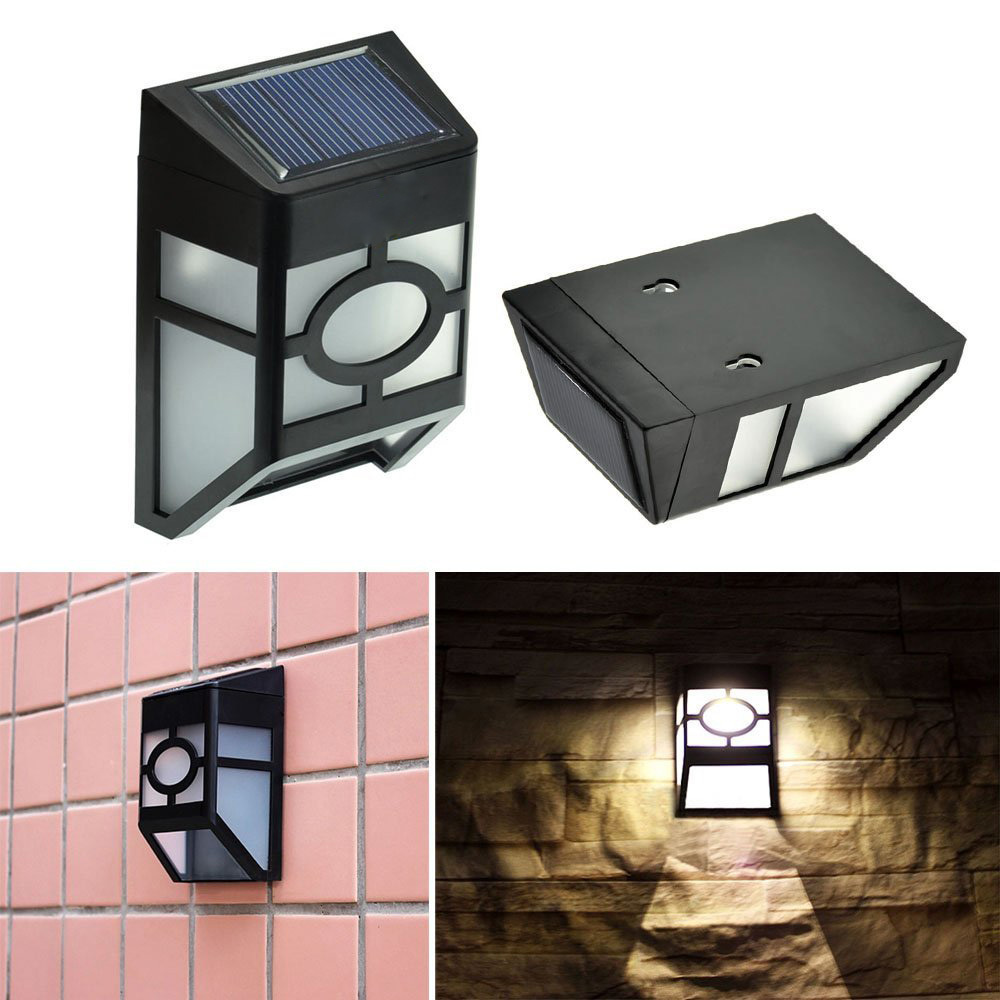 Retro waterproof solar wall lamps ABS Solar LED Path Light Outdoor Garden wall lightings Yard ...