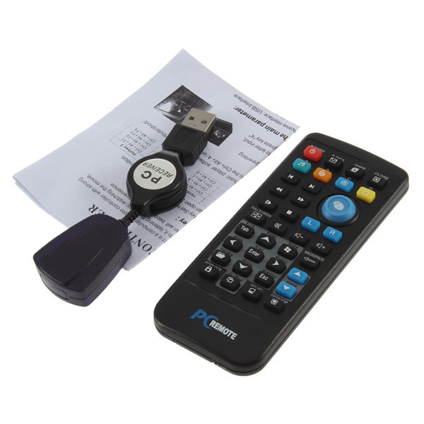 1Pc IR Wireless Controller, PC Computer Remote Control, USB Media Center fly Mouse & USB Receiver For Windows 7 XP VISTA Newest(China (Mainland))