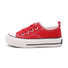 ילדי נעלי ילדה ילדי בד סניקרס 2018 אביב סתיו בנות נעלי לבן גבוהה מוצק אופנה ילדי נעליים(China)
