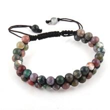 Moda bransoletka z paciorkami ręcznie robione kamienie przyjaźń bransoletki dla mężczyzn lub kobiet biżuteria Drop Shipping(China)