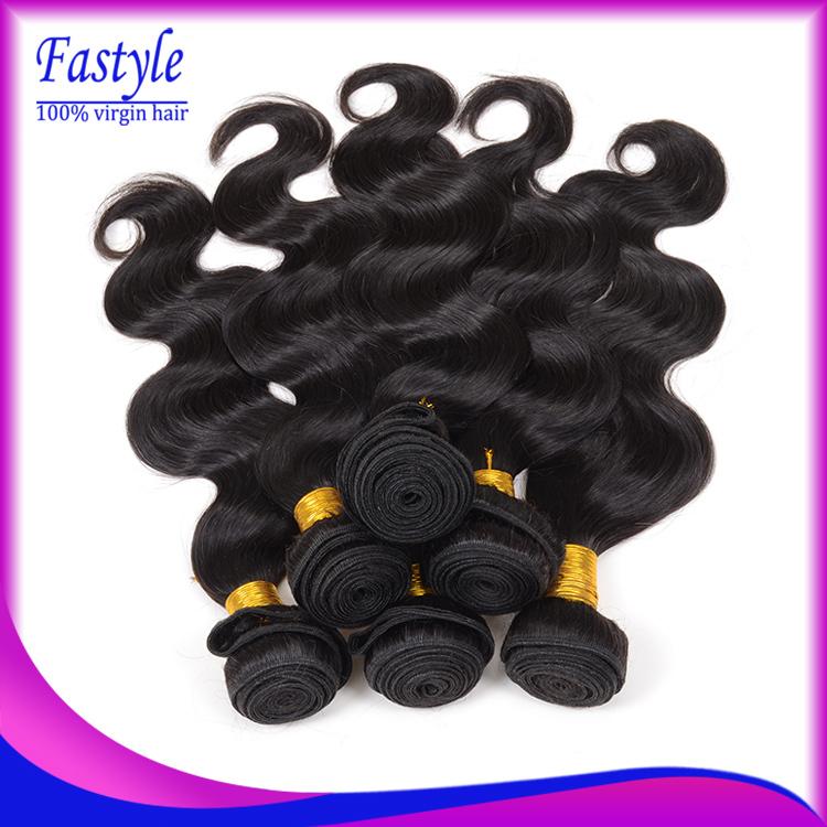 5A Rosa Hair Products Brazilian Virgin Hair Body Wave 4pcs Lot Ali Queen Hair Cheap Brazilian Hair Weave Bundles Natural Black(China (Mainland))