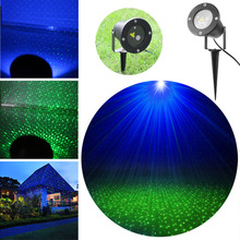 Outdoor GREEN BLUE Laser Garden Lawn Light Firefly Shower Landscape Light IP67 with Spike for New Year Holiday Xmas AC100-240V(China (Mainland))