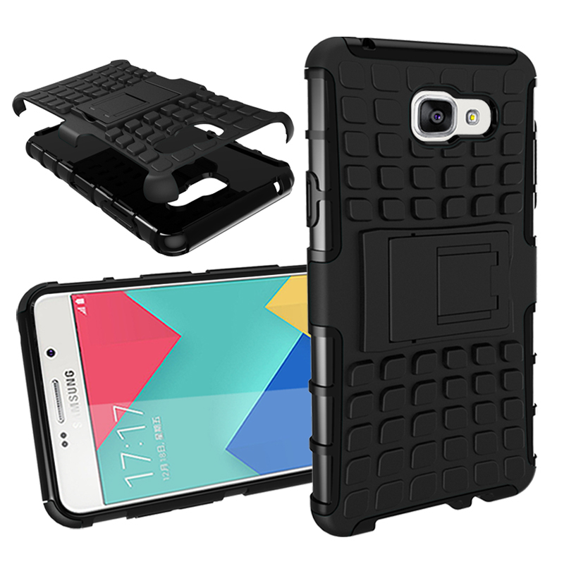 For Samsung Galaxy A5 2016 / A510 PC+TPU Touch Armor Cover Heavy Duty Defender Phone Case With Stand(China (Mainland))