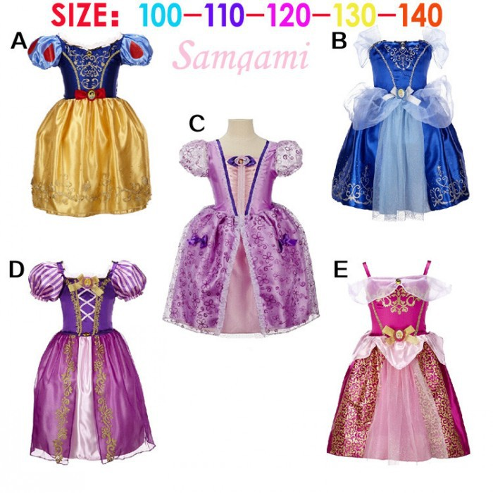 EMS DHL Free shipping 2015 Cinderella Snowwhite little girls kids Princess Tulle Easter Dress cosplay Holiday Dress(China (Mainland))