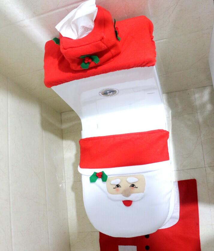 Buy 3pcs Toilet Seat Cover Christmas Fancy Decoracion Santa