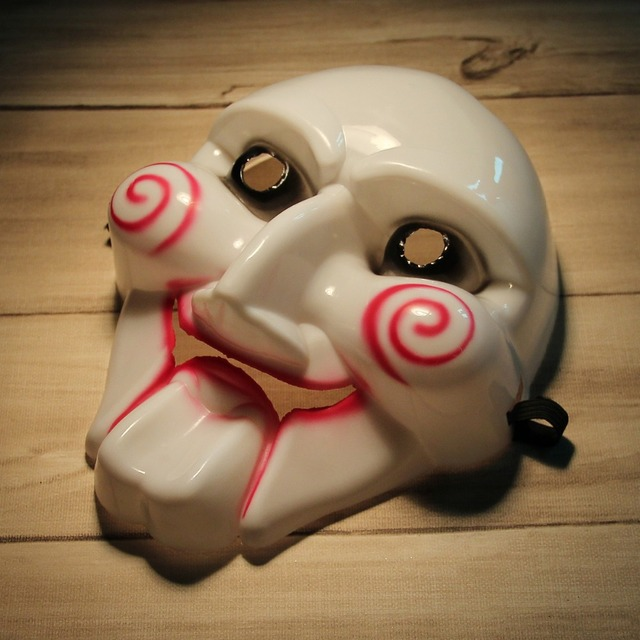 Scary Saw Billy PVC Mask for Halloween Masquerade Party