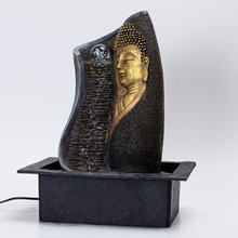 Resin Craft Buddha Fountain Home Decor Electronic Fountain Ornament  Furnishing Buddha Statue Geomantic Omen Decoration