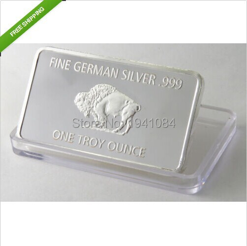 Dhl Free Ship 100pcs 1 Troy Ounce Buffalo German Silver