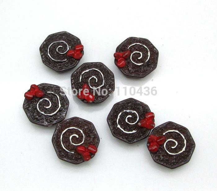 Resin Crafts 20Pcs Red Flower Chocolate Cup Cake Kawaii Cabochon Resin Scrapbooking DIY Home Decoration Crafts Free Shipping(China (Mainland))