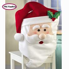 2015 Hot HOTEST Christmas Chair Cover Santa Decorations Santa Couple Xmas Dinner Decor For Christmas Free Shipping(China (Mainland))