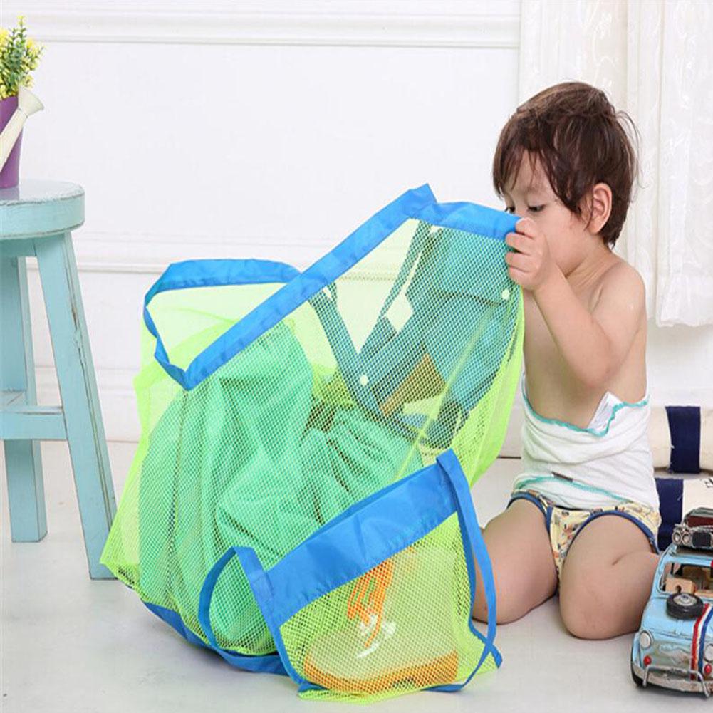Enduring Storage bag Children Sand Away Beach Mesh Bag Children Beach Toys Clothes Towel Bag Baby Nappy Bags(China (Mainland))