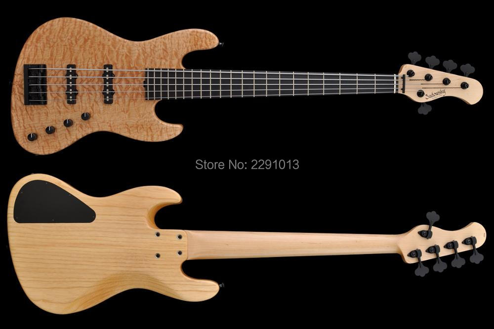 BEST 5 strings bass guitar Best accessories BEST workmanship Free shipping(China (Mainland))