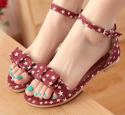 ENMAYER  women Sandals fashion Summer sandals Ankle Strap Mixed Colors flats sandals Buckle Platform Sandals Fashion shoes women