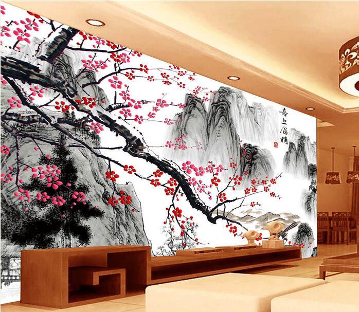 Chinese schilderen behang promotie winkel voor promoties chinese schilderen behang op - Trendy kamer schilderij ...