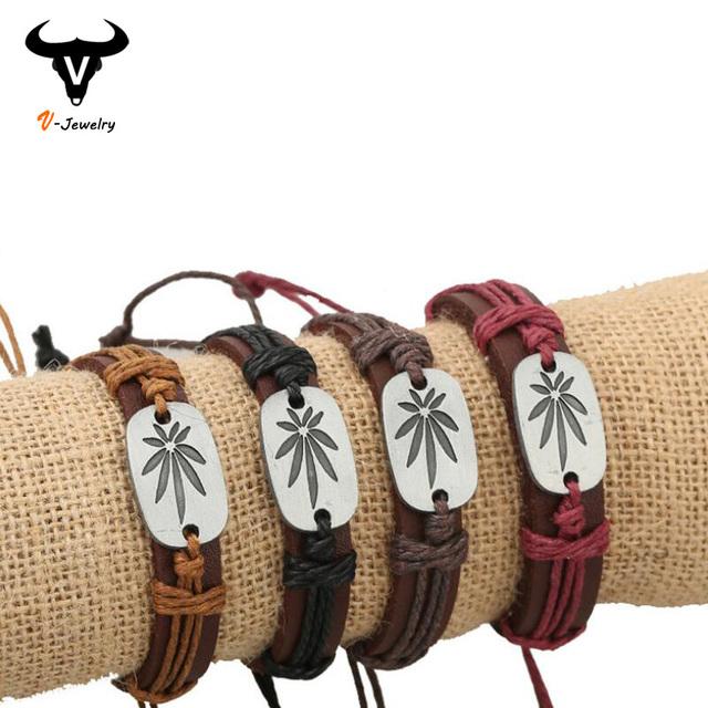 Европейский мода 100% браун корова кожаный браслет обруча браслет женщины мужчин ...