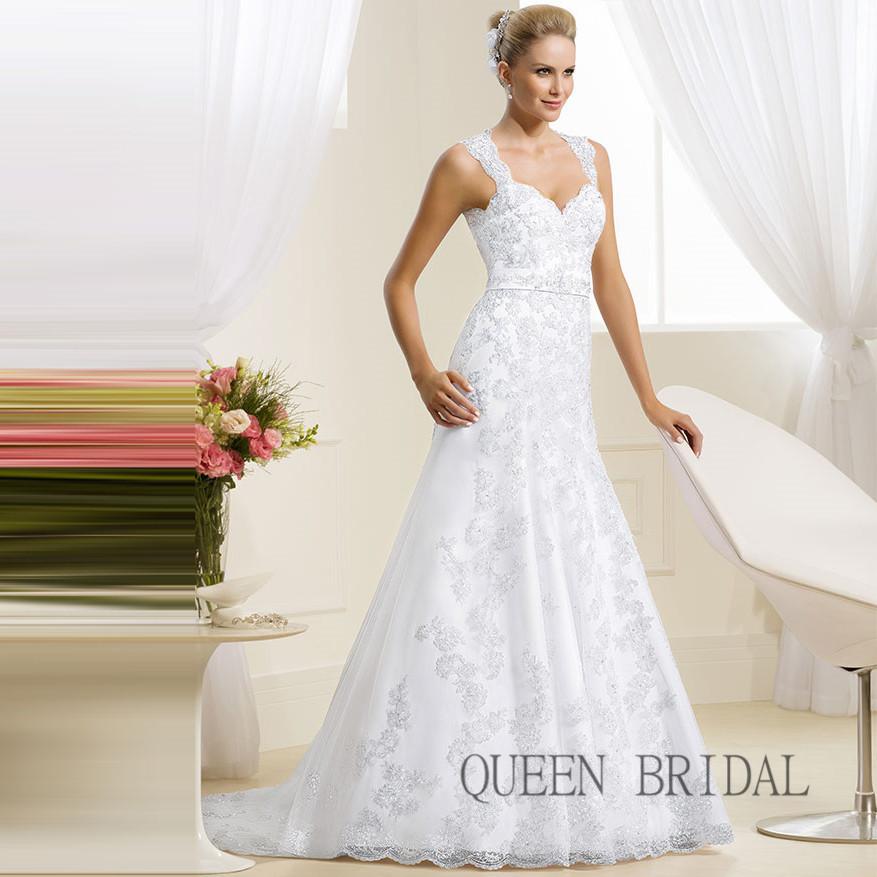 tulle lace appliques white wedding dress bridal gown bride dresses