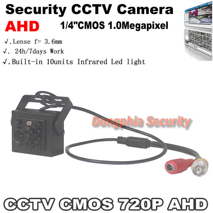 Free shipping!Mini security Camera AHD 720P 1.0MP HD home Camera Monitor the environment without missing every corner