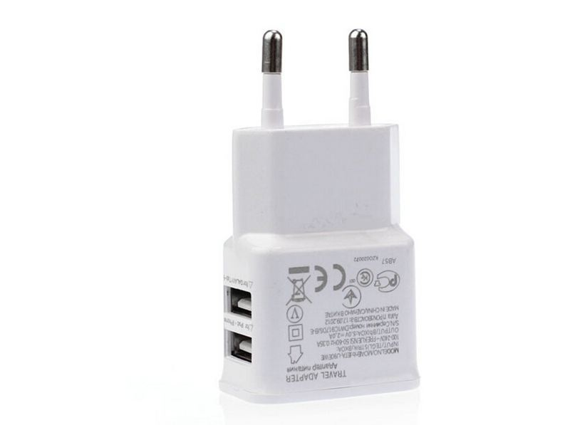 Dual USB 5V 2A Wall Charger Adapter USB Charger EU Plug Travel Power 2 USB Port For iPhone6 5 4 For iPad Galaxy S3 S4 Note 3