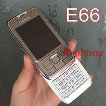 Original Nokia E66 Mobile Phone 2G 3G Unlocked Refurbished E66 Slider Phone Arabic Russian Keyboard(China (Mainland))