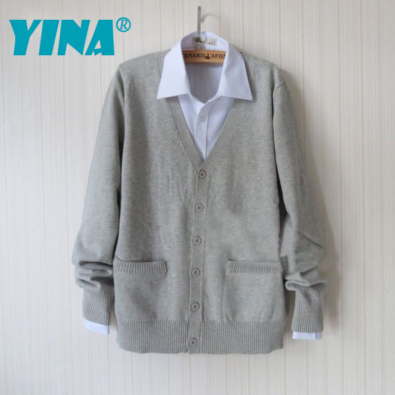 Autumn winter sweater long-sleeve boys , girls Janpan school uniform sailor suit wear fashion 6 color cardigan - China YINA Co., Ltd. store