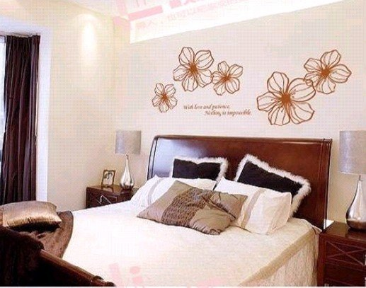 Big flowers 2011 NEW ! PVC house/Living room/bedroom /wall sticker decal decor/glass sticker /wallsticker/
