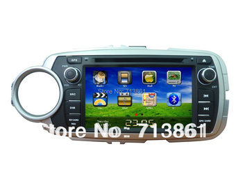 7 inch fit for Toyota Yaris 2012 2 Din car dvd player,GPS,wince 6.0,2 zone,free copy map,BT,TV,phonebook,RDS,radio,Russian menu