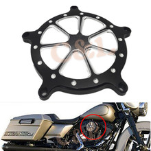 Black CNC Aluminum Air Filter Cleaner Cover For Harley Softail Touring Dyna Models Custom (China (Mainland))