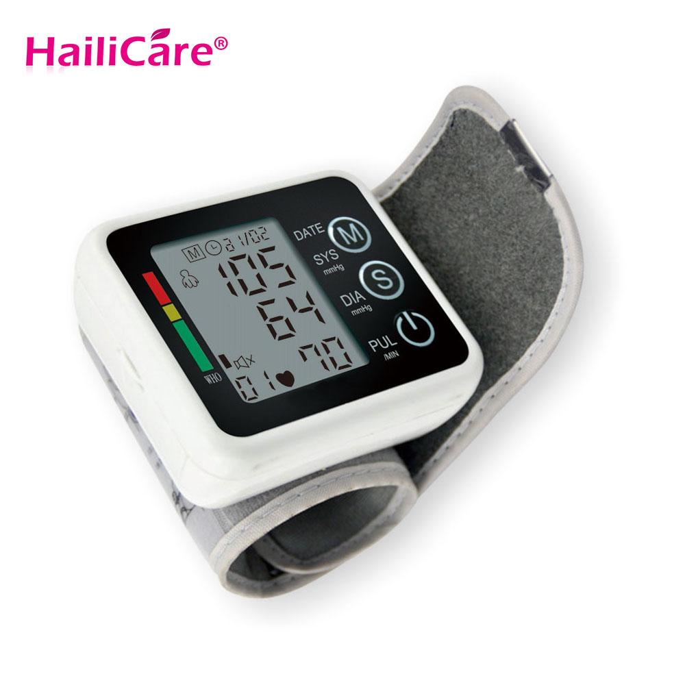 Health Care Automatic Tonometer Portale Digital Wrist Blood Pressure Monitor Meter Measuring Pulse Sphygmomanometer Tensiometros(China (Mainland))