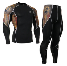 Brand Men s Compression Shirts Fitness Exercise Base Layer Tights Bodybuilding Training gym Running MMA Tops