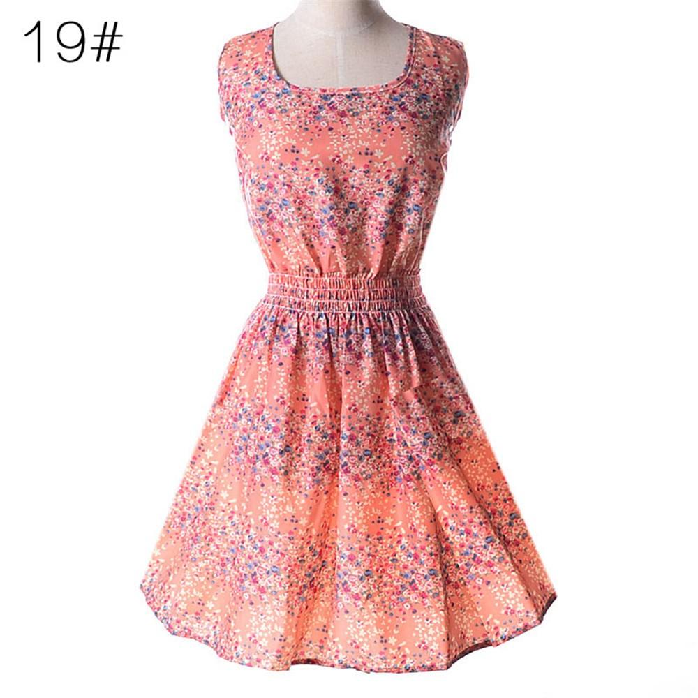 Fashion Tunic Women Dress 2016 Plus Size XXL O-neck WOMEN DRESS Summer Style Floral Print Casual Dresses Women Vestidos Woman (45)