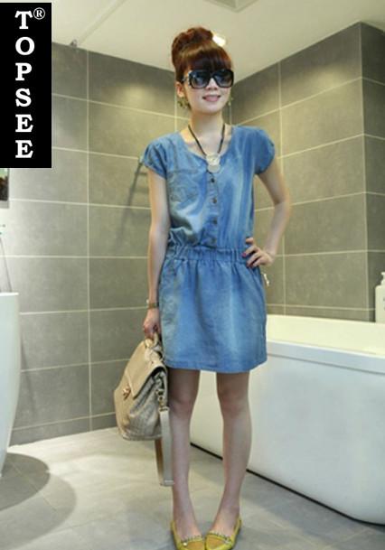 Korean Style 2015 New Fashion Summer Jeans Women Dresses