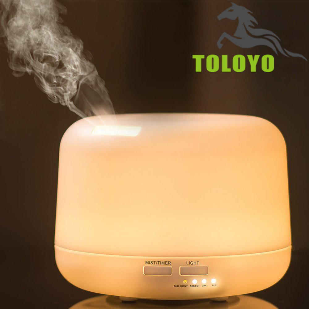 Toloyo TLY-04 300ml 7 Colors Change Dry Protect Ultrasonic Essential Oil Aroma Diffuser Air Humidifier Mist Maker(China (Mainland))