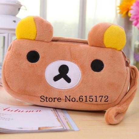 1pcs Zipper a Cartoon Kawaii Cute Stationery School Supplies Rilakkuma Plush Pen Bag Animal Pencil Case Bear Pouch For Girl Kids<br><br>Aliexpress