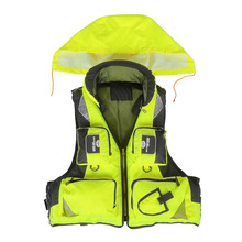 Water Sports Outdoor Polyester Adult Safety Life Jacket Professional Universal Fishing Swimming Boating Drifting Survival Vest(China (Mainland))
