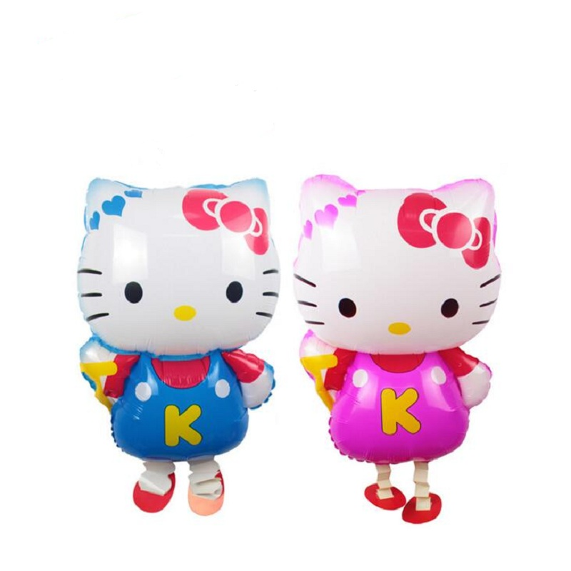 10pcs/lot Hello Kitty Walking Pet Balloons KT Cat Walking Animal Foil Balloons Party Decoration Supplies Toy Gift Globos Balony(China (Mainland))