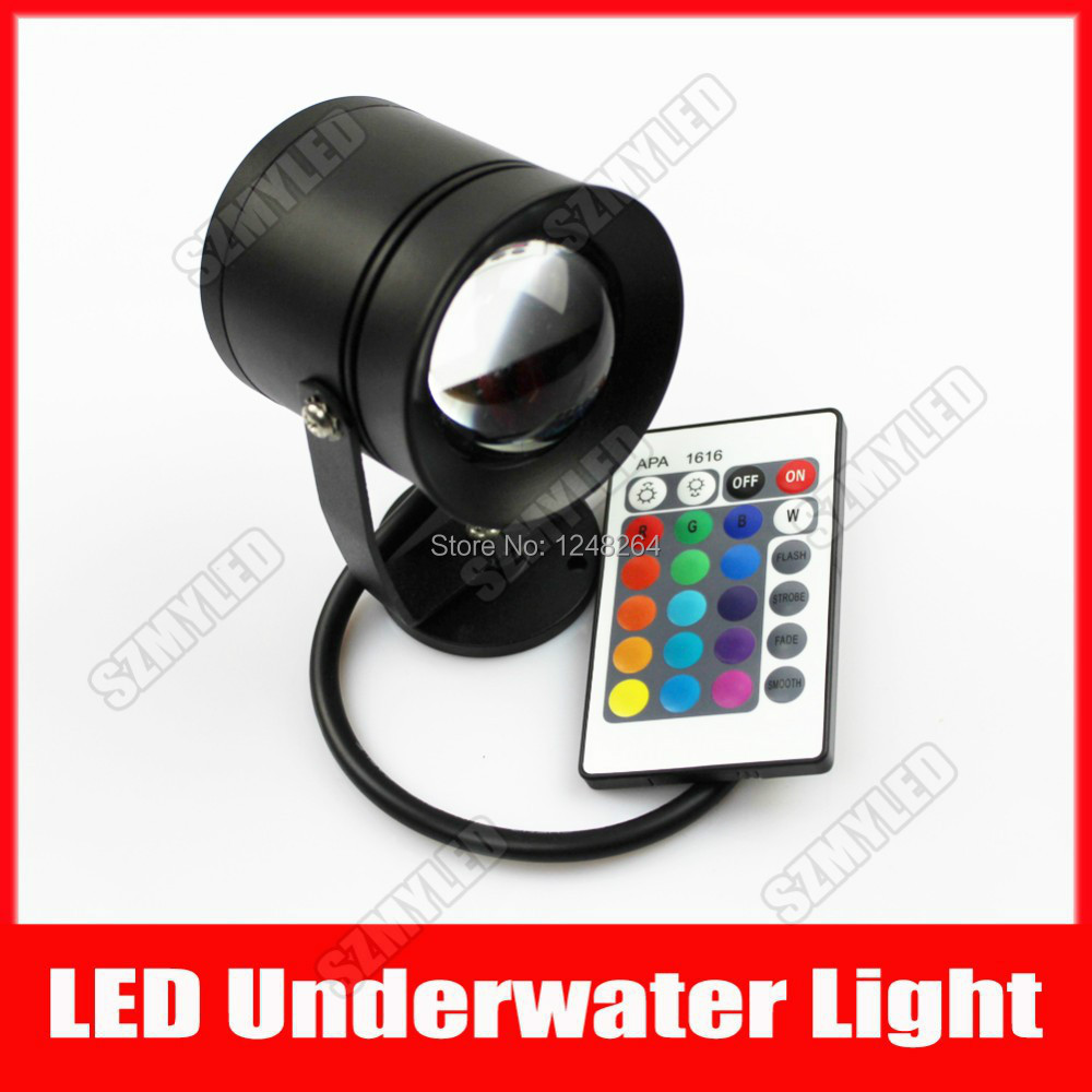 Wholesale New Arrival 10w LED Lights 12V - 24V RGB Underwater Light IP68 Waterproof 1000LM For Swimming Pool Party Decoration(China (Mainland))