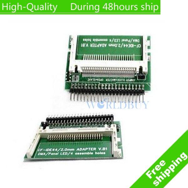 High Quality 2.5 LAPTOP CF to 44 pin HD IDE Hard Drive Adapter Free shipping(China (Mainland))