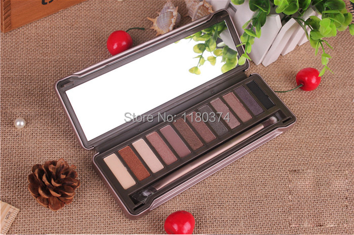 1Piece Brand Makeup N K 12 Pigment Rich colors makeup Eye shadow N K 2 high quality eyeshadow palette Free shipping(China (Mainland))