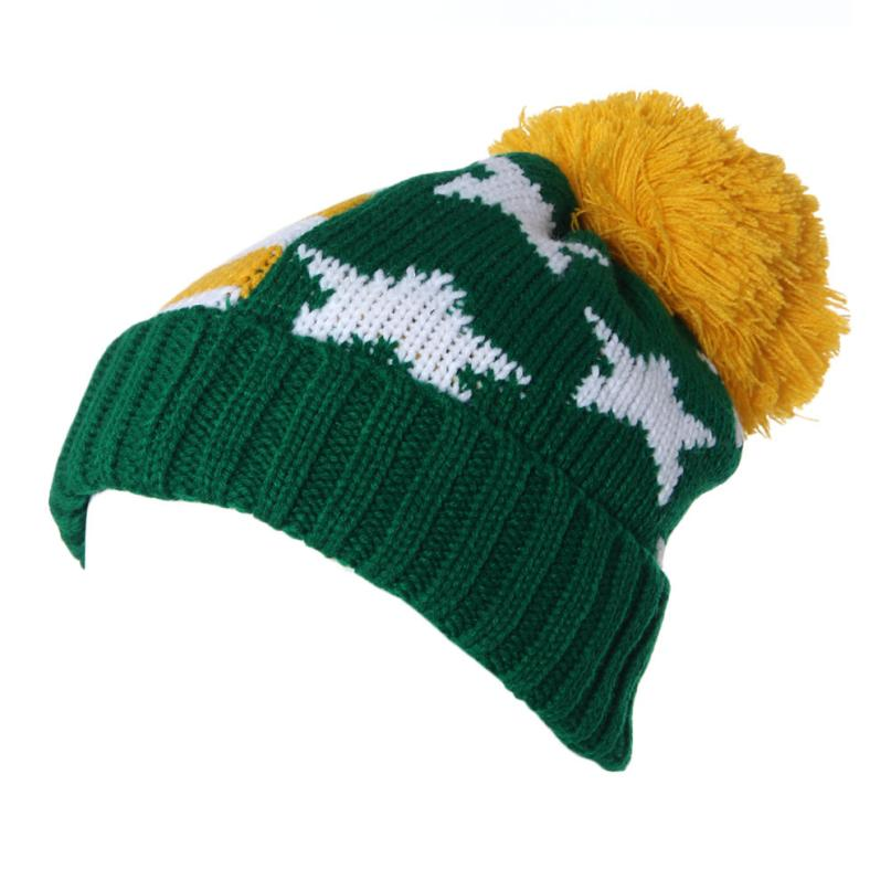 Hot selling High Quality Woolen Yarn Flanging Ball beautiful Cap Couples Christmas Men And Women Knitted Hat(China (Mainland))