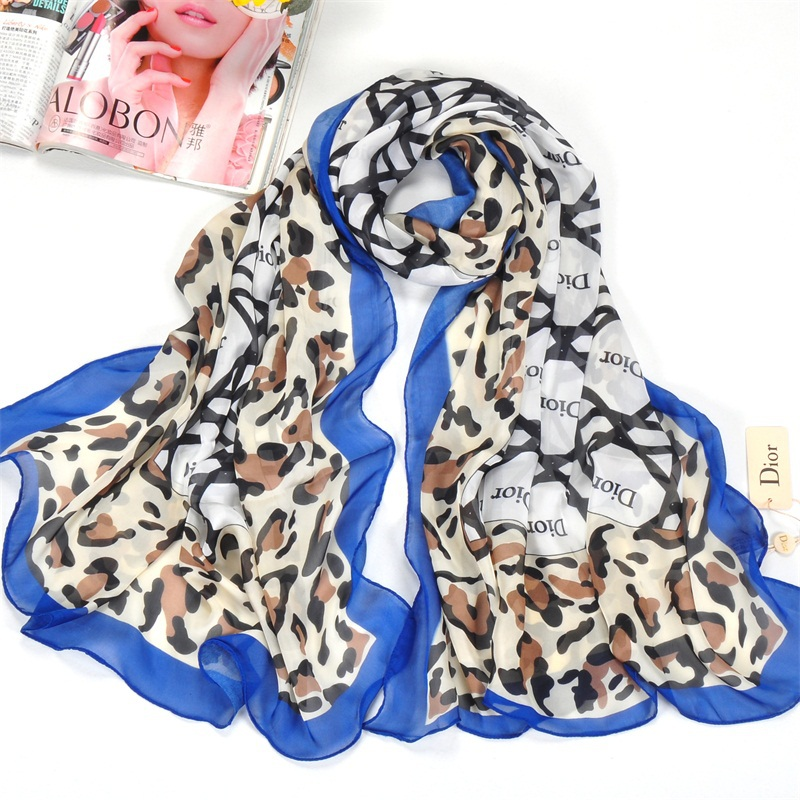 Hot sale brand scarf for women 2015 new arrivals Leopard shawls and scarves summer print silk pashmina(China (Mainland))