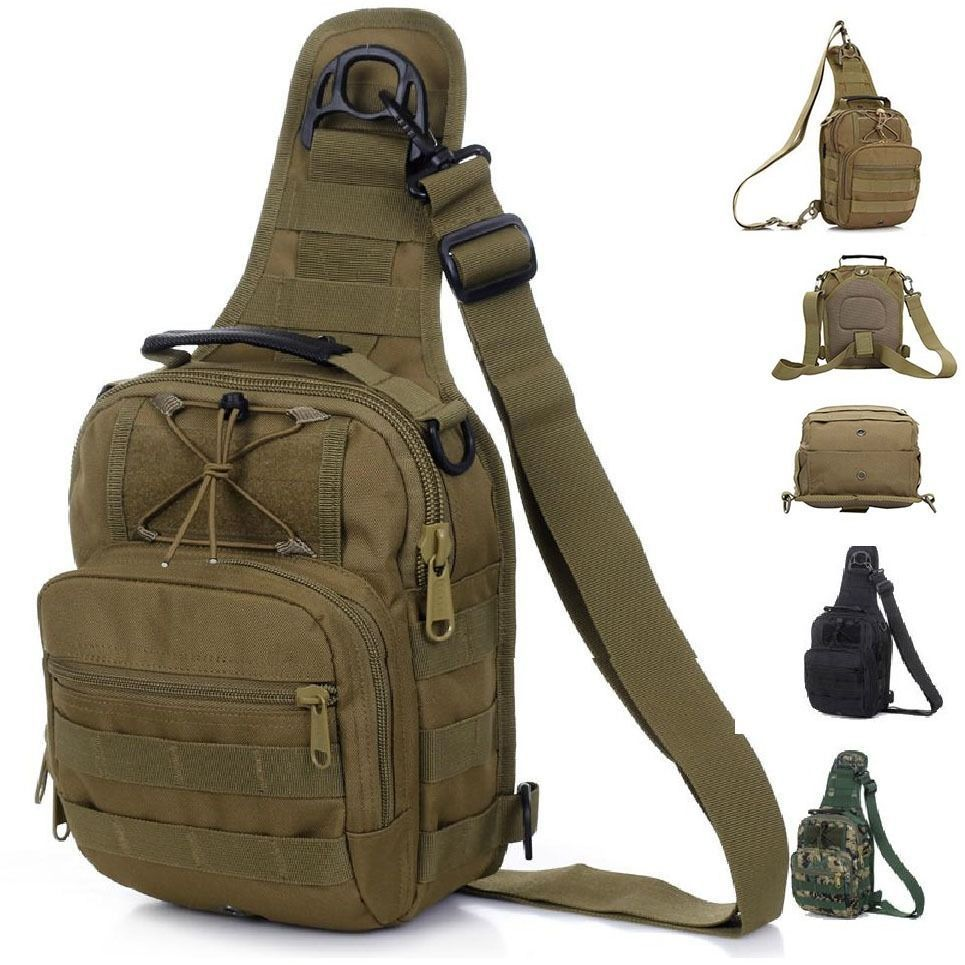 New Millitary 1000D Molle Tactical Utility Shoulder Sling Bag Sports Hiking 3 colors Free shipping(China (Mainland))
