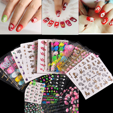 50 Sheet Beauty Floral Design Patterns Nail Stickers Mixed Decals Transfer Manicure Tips 3D Nail Art