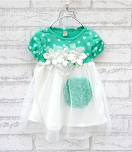 summer Children clothing-baby girls clothes kids tutu dress girl dress (China (Mainland))