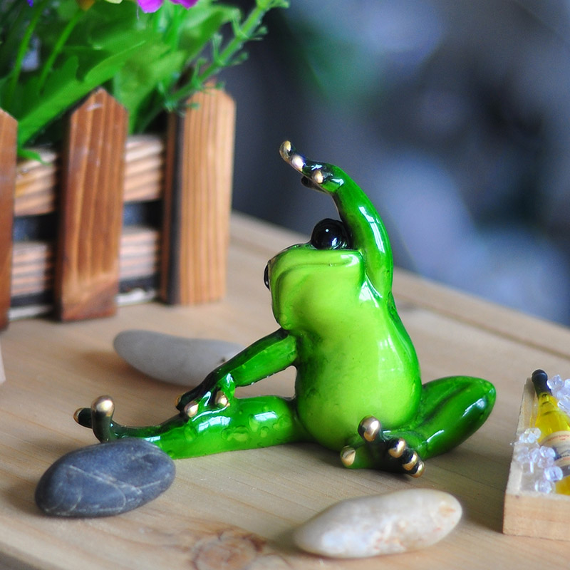 Compare prices on yoga frog figurines online shopping buy low price yoga fro - Statue decoration interieur ...