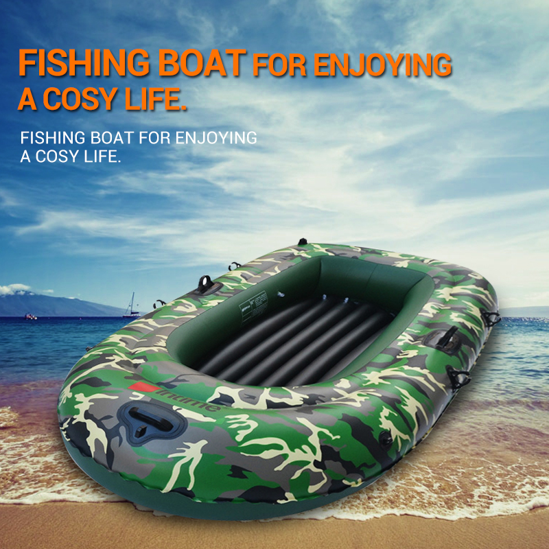 1 Set 2 3 4 Person Military Inflatable Rubber Fishing Boat Convertible Motor Ship Safety Recue Boat with Paddles Pump Rope